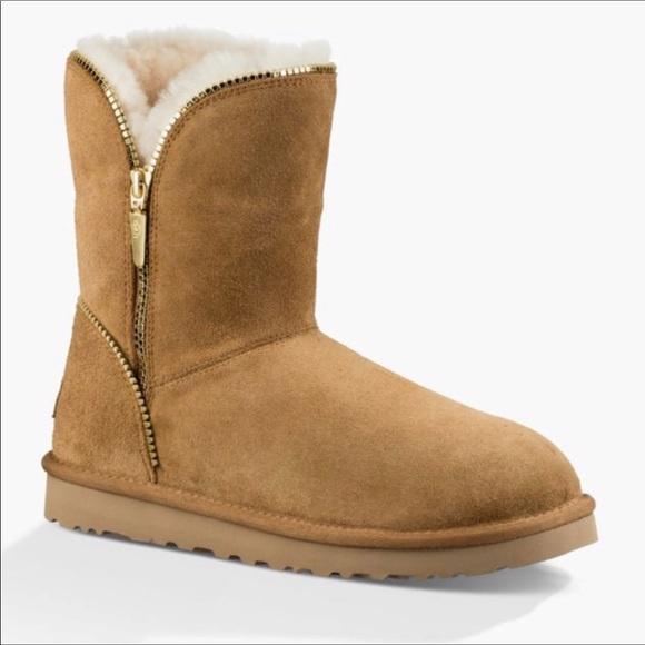 c3c01988f54 UGG Florence Chestnut Short Zipper Boots